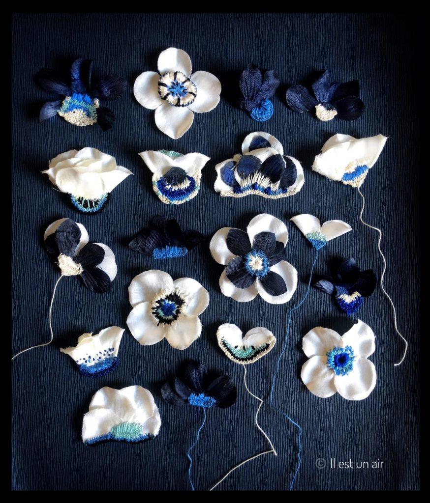 herbier textile bleu nuit